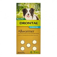 Drontal Med Dog Tablet x5