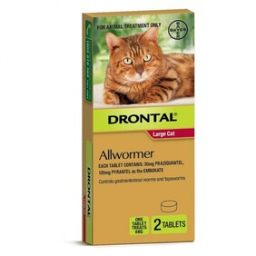 Drontal Cat Ellipsoid 6kg x 2
